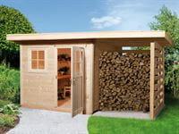 Weka Gartenhaus 170 Größe 1 mit Schleppdach