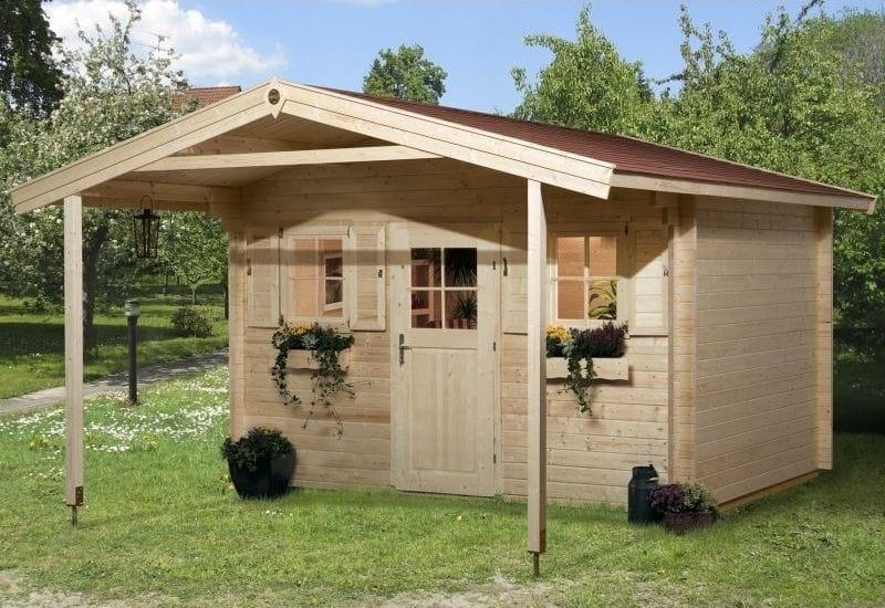 Weka Gartenhaus 138 Gr. 2 Vordach 200 cm
