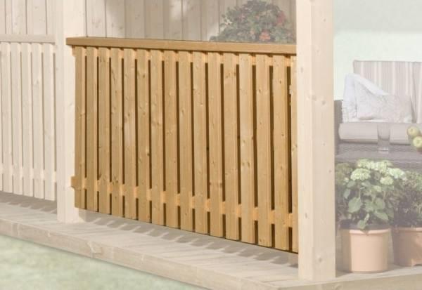 Weka Brüstungselement geschlossen für Terrassenüberdachung 672