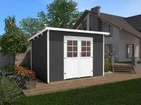 Weka Gartenhaus 219 Größe 2 anthrazit 28 mm