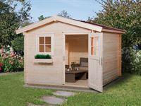 Weka Gartenhaus 106 Gr 3 Vordach 20 cm 28 mm