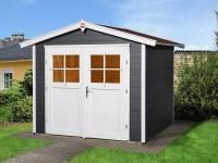Weka Gartenhaus 224 Größe 4 mit Doppeltür anthrazit