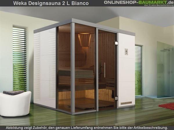 Weka Wellnissage Premium Designsauna 2L Bianco ohne Ofen inkl. Montage