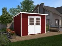 Weka Gartenhaus 219 Größe 3 schwedenrot 28 mm
