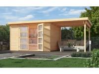 Weka Gartenhaus 321 Größe 5 mit Anbaudach 230 cm