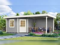 Weka Gartenhaus 213 Plus Gr 2 grau Anbau 300 cm