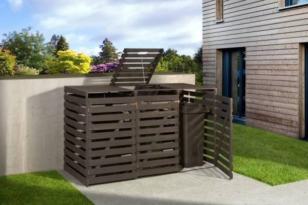 Weka Mülltonnenbox für 3 Tonnen in anthrazit